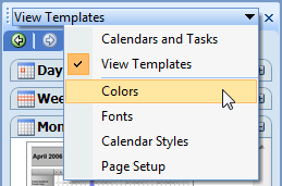 Modify calendar printing assistant templates for Calendar printing assistant templates