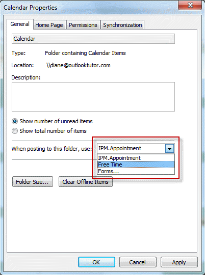 Set the form as default on the Properties dialog