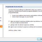 Change Outlook&#039;s Programmatic Access Options