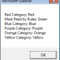 Print a list of Outlook Categories and their Colors