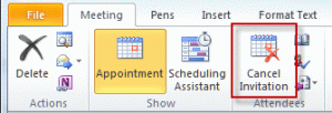 Cancel meeting invation to convert to appointment