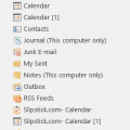 To rename Outlook's default folders
