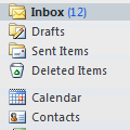Changing the folder sort order in Outlook's Folder list
