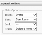 Configuring special IMAP folders in Outlook 2013