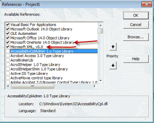 Remember to set the references to OneNote and XML libraries