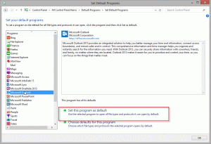 Set Outlook as your default email client